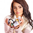 Woman having pills and tablets. — Stock Photo #20071755