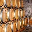 Barrel of wine in winery. - Stock Photo