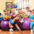 Stock Photo: Women in aerobics class.