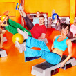 Royalty-Free Stock Photo: Group in aerobics class.