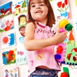 Постер, плакат: Child play block in play room