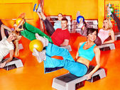 Group in aerobics class. — Stock Photo