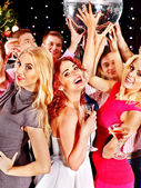 Group dancing at party. — Stock Photo