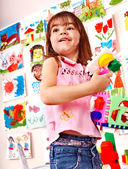 Child play block in play room. — Stock Photo