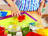 çocuk yapma dekorasyon kartı.. — Stok fotoğraf