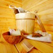 Still life with sauna accessories. — Stock Photo #21368111