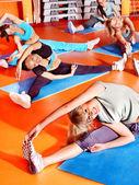 Kadınlar aerobik dersinde. — Stok fotoğraf