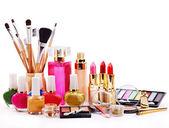Cosmetici decorativi per il trucco. — Foto Stock