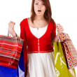 Expression girl with shopping bag. — Stock Photo #2283991