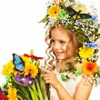 Child with flower hairstyle. — Stock Photo #22899478