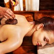 Woman having Ayurvedic body  spa massage. — Stock Photo