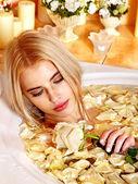 Woman at luxury spa. — Stock Photo