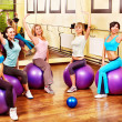 Royalty-Free Stock Photo: Women in aerobics class.