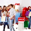 Royalty-Free Stock Photo: Shopping women at Christmas sales.