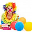 Stock Photo: Portrait of clown.
