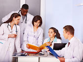 Team of doctor in hospital. — Stock Photo
