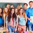 Group student near blackboard. — Stock Photo #23310712