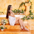 Woman at luxury spa. - Stock Photo