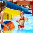 Children swimming in pool. — Stock Photo
