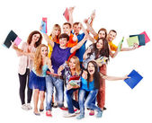 Studente di gruppo con notebook. — Foto Stock