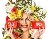 Närbild gör med blomma. — Stockfoto