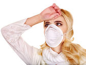 Young woman in medical mask. — Stock Photo
