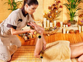 Woman getting feet massage — Stock Photo