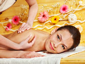 Woman getting massage . — Stock Photo