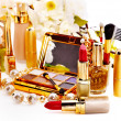 Decorative cosmetics and flower. — Stock Photo #23674171