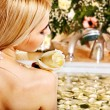 Woman at luxury spa. — Stock Photo #23674535