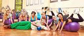 Skupina v aerobiku. — Stock fotografie