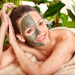 Royalty-Free Stock Photo: Clay facial mask in beauty spa.