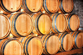 Barrel of wine in winery. — Stock Photo