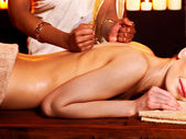 Woman having Ayurvedic spa treatment. — Foto de Stock