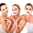 Group women with facial mask. — Stock Photo #25257005