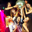Womon disco in night club. — Stock Photo #25257129