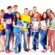 studente di gruppo con notebook — Foto Stock