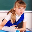 Child with broken arm. - Stock Photo