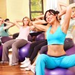 Women in aerobics class. - Stock Photo