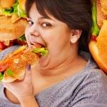 Woman eating hot dog. — Stock Photo #25257457