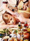 Massage in beauty spa. — Stock Photo