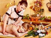Woman getting relax massage . — Stock Photo