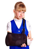 Child with broken arm. — Stock Photo