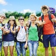 Stock Photo: Group on travel.