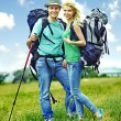 Couple on travel. — Stock Photo