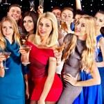 groep dansen op feestje — Stockfoto