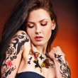Girl with body art. — Stock Photo #27608237