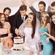 Group at wedding table. — Stock Photo #27608431