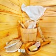 Still life with sauna accessories. — Stock Photo #27608517