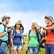 Group on travel. — Stock Photo